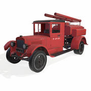 soviet truck fire engine 3d model