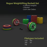 Olympic Weightlifting Barbell Crossfit 3d model