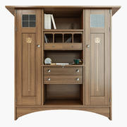 Art & craft bookcase 3d model