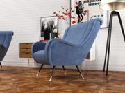 Giardino armchairs furniture set 3d model