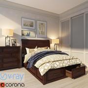 Bed. Bedroom. Thomas Cole Designs 3d model