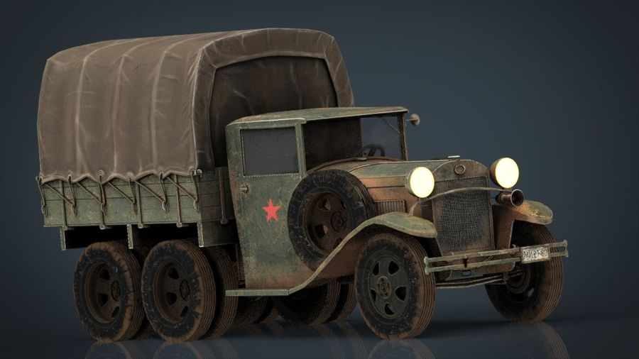 GAZ AAA CARGO TRUCK royalty-free 3d model - Preview no. 9