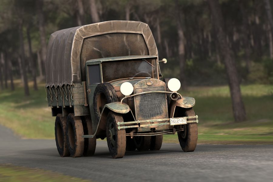 GAZ AAA CARGO TRUCK royalty-free 3d model - Preview no. 25