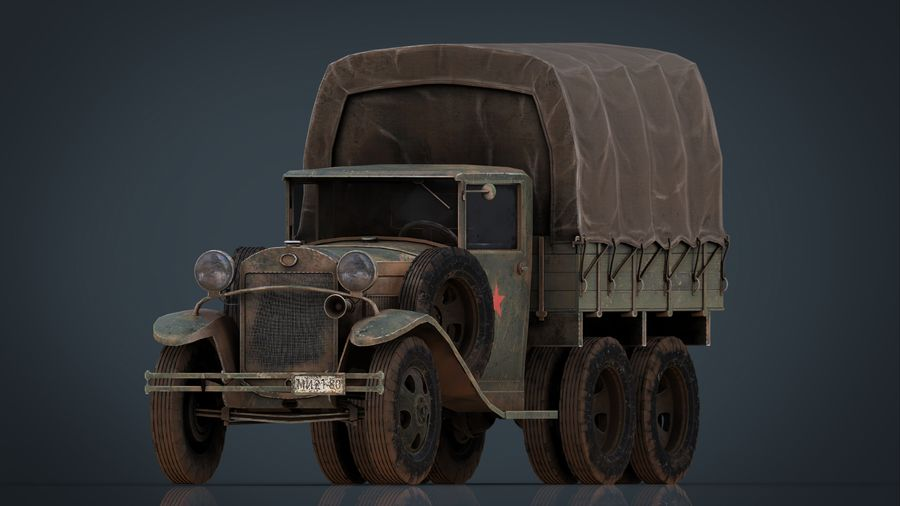 GAZ AAA CARGO TRUCK royalty-free 3d model - Preview no. 2