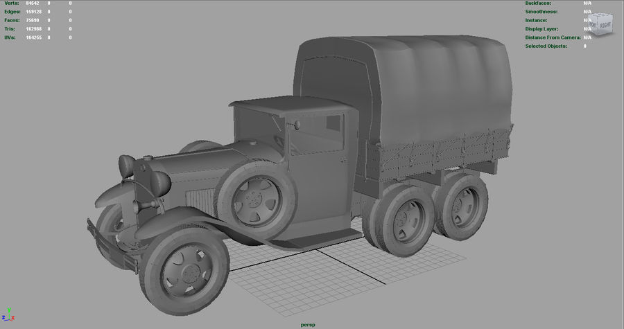 GAZ AAA CARGO TRUCK royalty-free 3d model - Preview no. 13