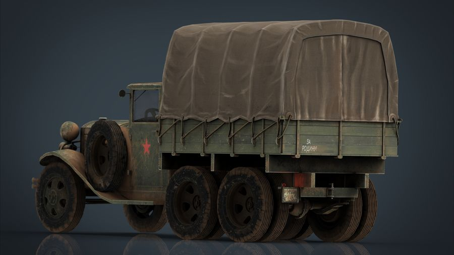 GAZ AAA CARGO TRUCK royalty-free 3d model - Preview no. 10