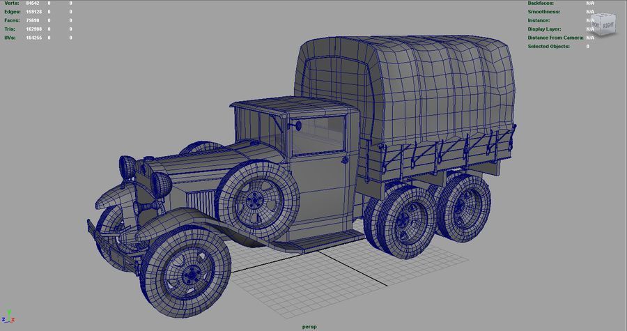 GAZ AAA CARGO TRUCK royalty-free 3d model - Preview no. 14