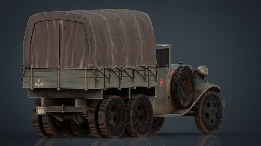 GAZ AAA CARGO TRUCK royalty-free 3d model - Preview no. 8
