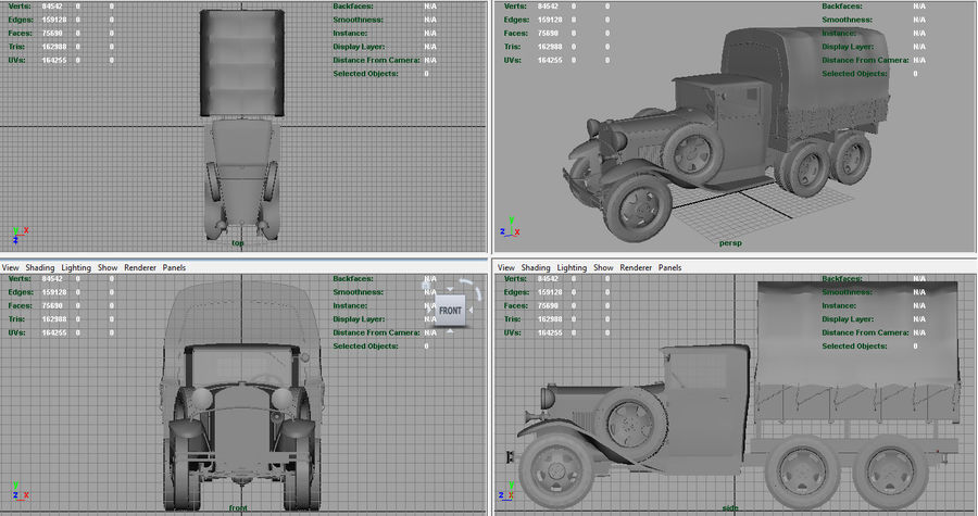 GAZ AAA CARGO TRUCK royalty-free 3d model - Preview no. 16