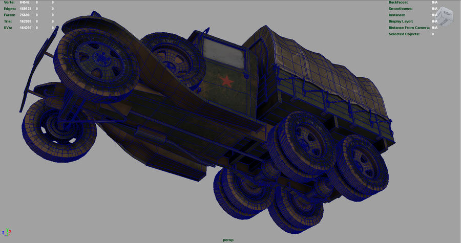 GAZ AAA CARGO TRUCK royalty-free 3d model - Preview no. 21