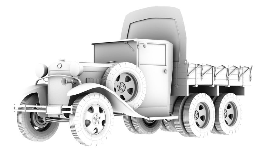 GAZ AAA CARGO TRUCK royalty-free 3d model - Preview no. 5