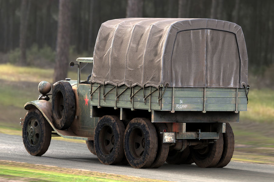 GAZ AAA CARGO TRUCK royalty-free 3d model - Preview no. 11