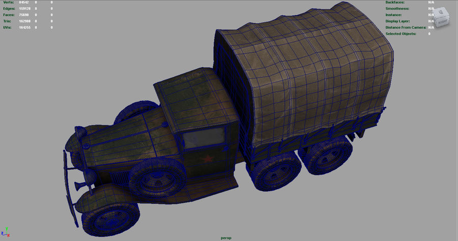 GAZ AAA CARGO TRUCK royalty-free 3d model - Preview no. 22