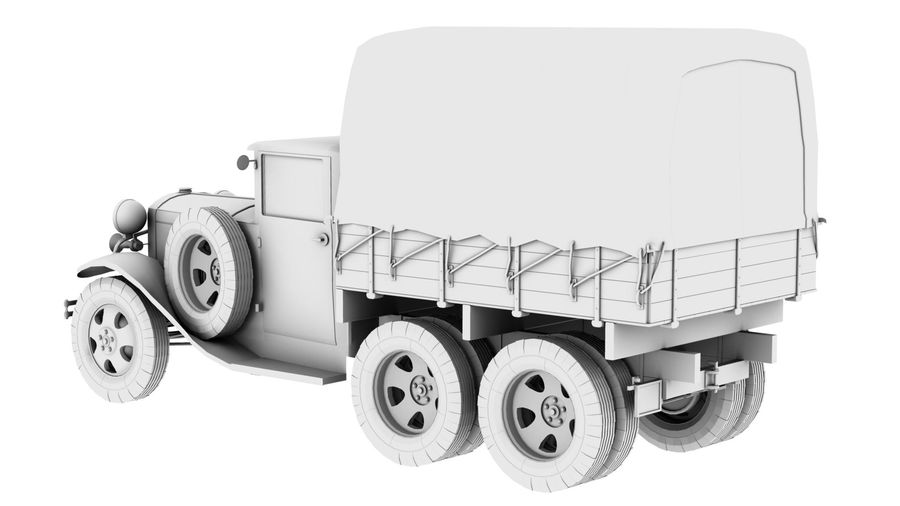 GAZ AAA CARGO TRUCK royalty-free 3d model - Preview no. 6