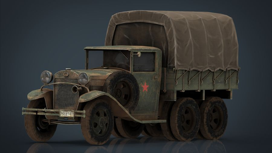 GAZ AAA CARGO TRUCK royalty-free 3d model - Preview no. 1