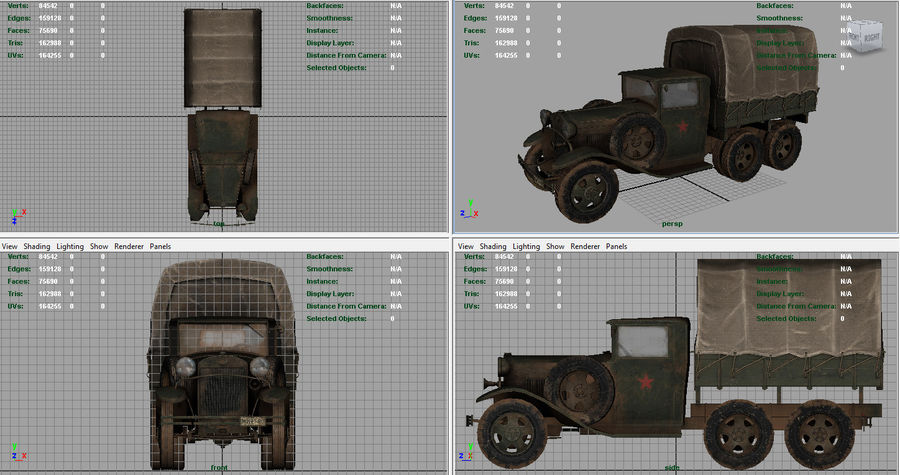 GAZ AAA CARGO TRUCK royalty-free 3d model - Preview no. 15