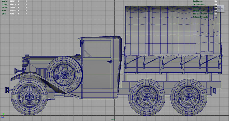 GAZ AAA CARGO TRUCK royalty-free 3d model - Preview no. 19