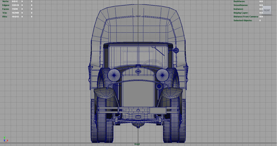 GAZ AAA CARGO TRUCK royalty-free 3d model - Preview no. 18