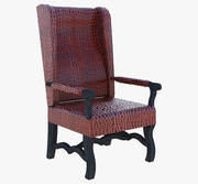 Мебель Кожаное Кресло 2 3d model