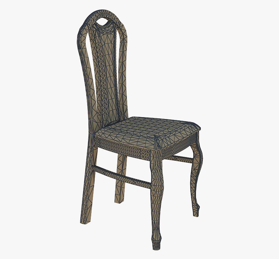 Furniture Dining Chair royalty-free 3d model - Preview no. 6