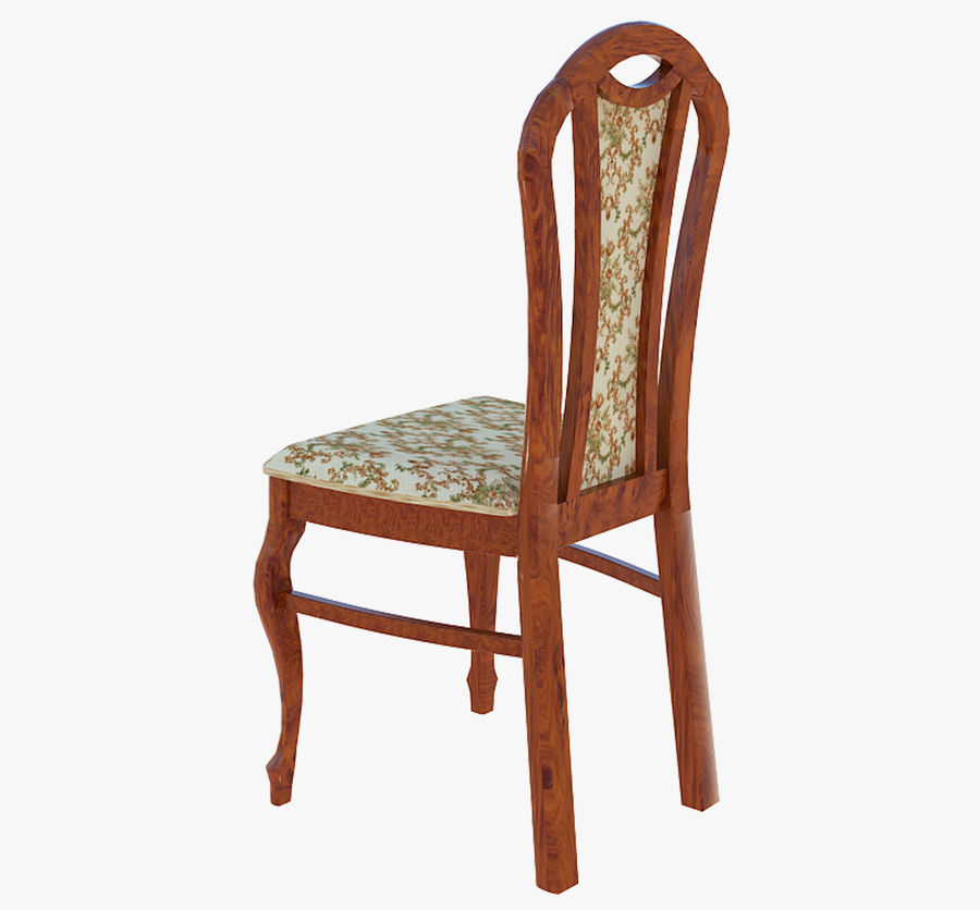 Furniture Dining Chair royalty-free 3d model - Preview no. 3