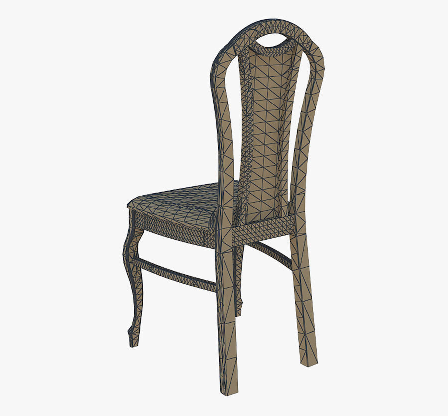 Furniture Dining Chair royalty-free 3d model - Preview no. 7