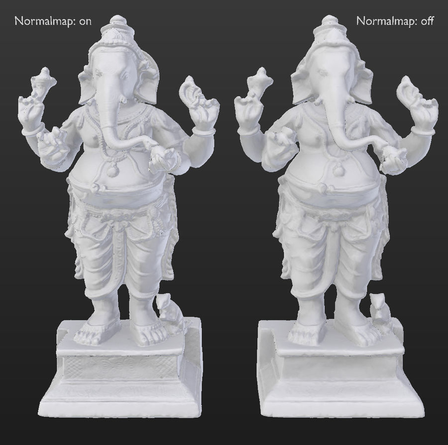 ganesha royalty-free 3d model - Preview no. 12