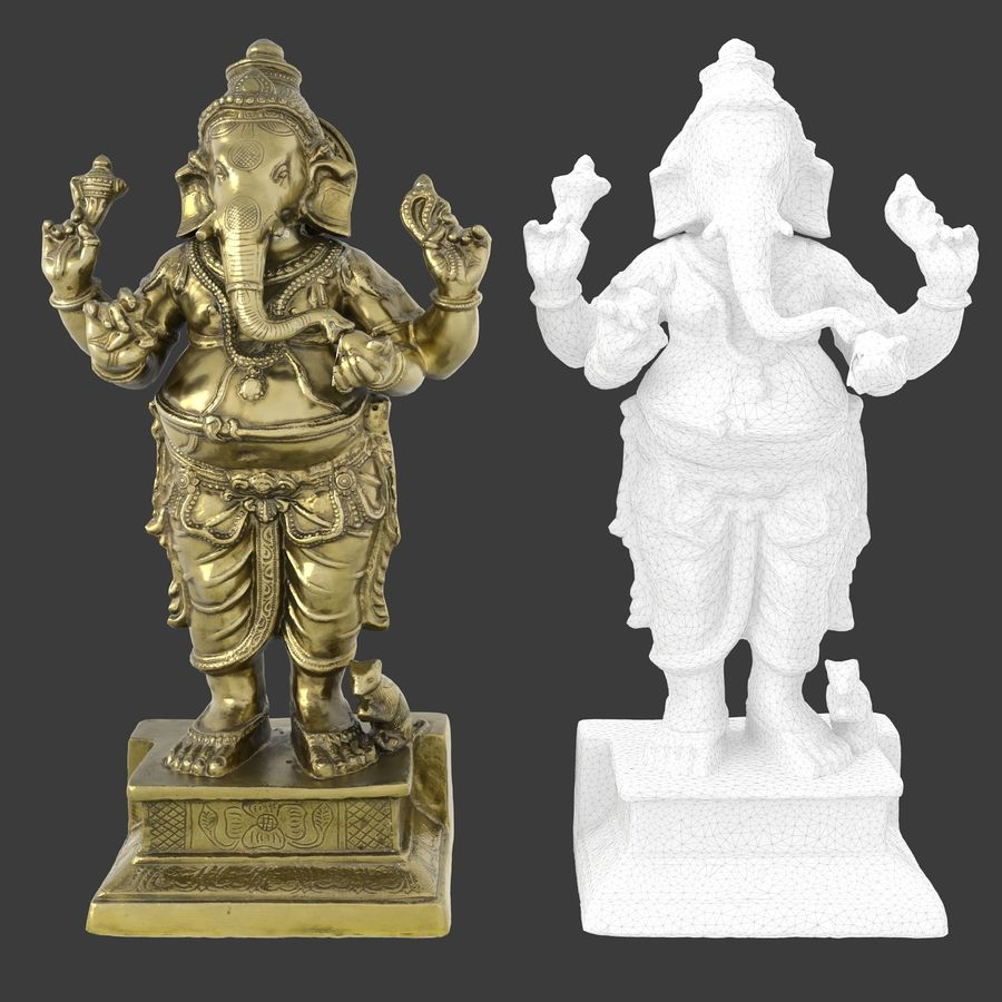 ganesha royalty-free 3d model - Preview no. 16
