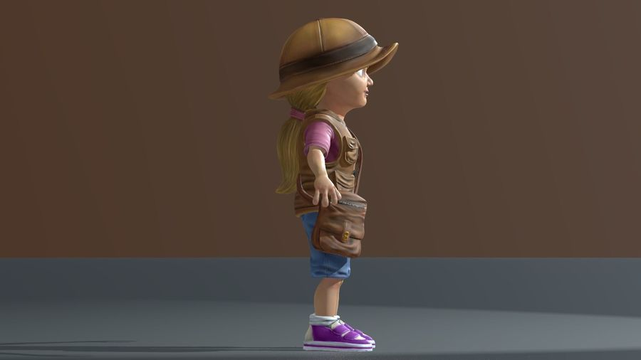 Exploring Girl royalty-free 3d model - Preview no. 6