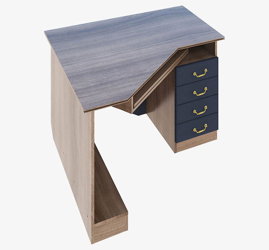 Furniture Computer Table royalty-free 3d model - Preview no. 2