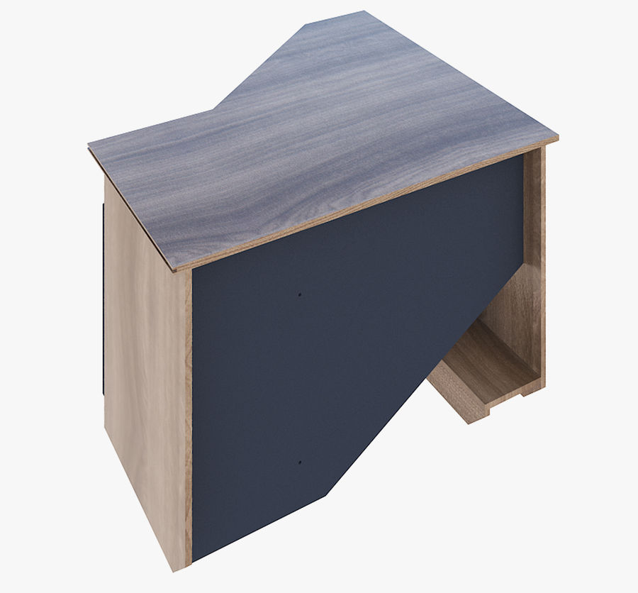 Furniture Computer Table royalty-free 3d model - Preview no. 4