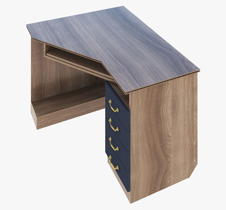 Furniture Computer Table royalty-free 3d model - Preview no. 5