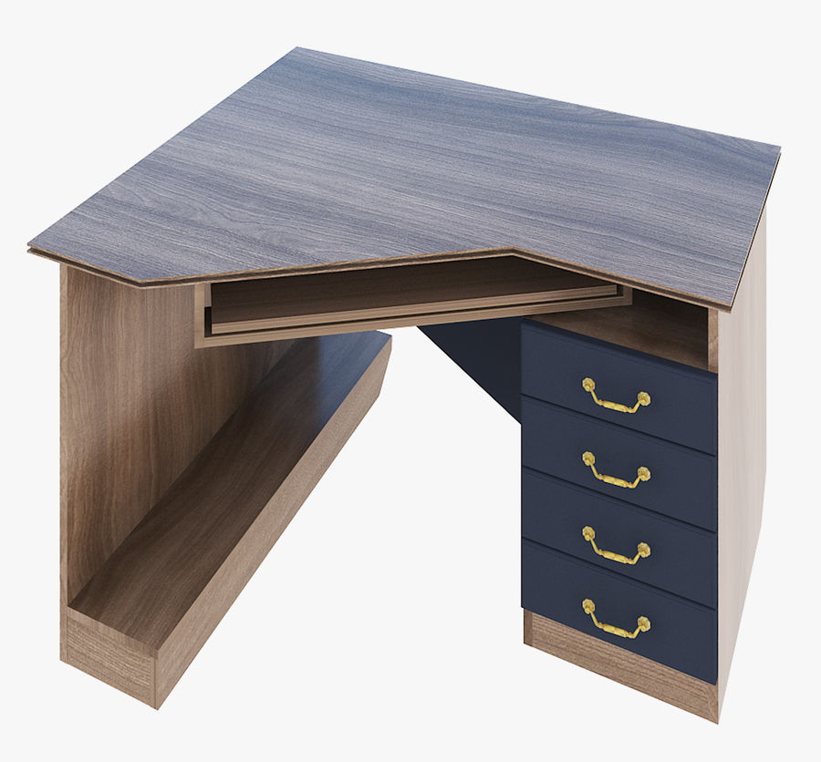 Furniture Computer Table royalty-free 3d model - Preview no. 1