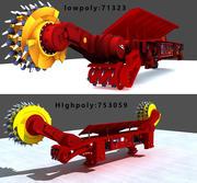 Coal Mining Machine 3d model
