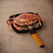 Gekochte Krabben in einer Pfanne 3d model