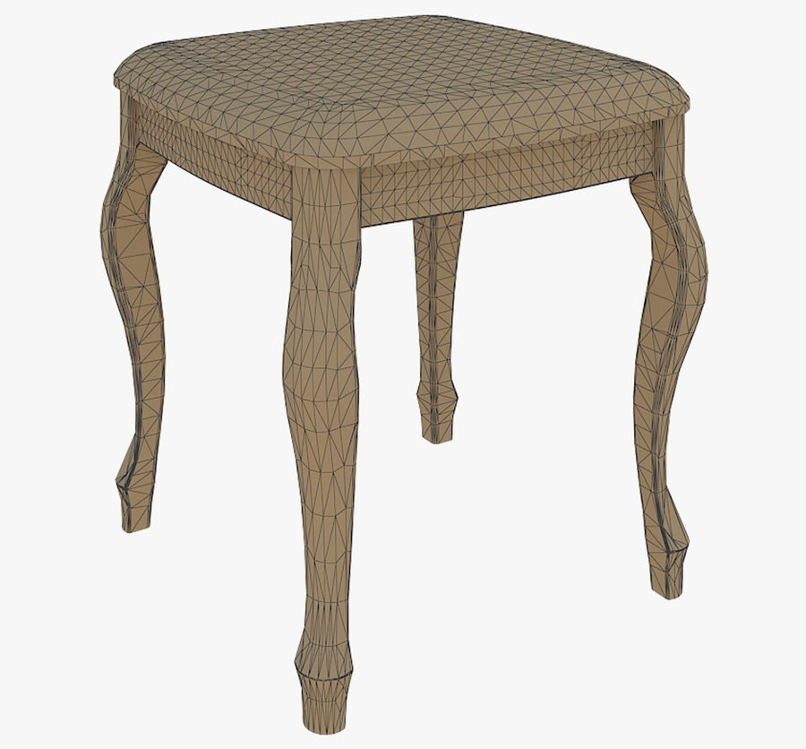 Furniture Small chair royalty-free 3d model - Preview no. 6