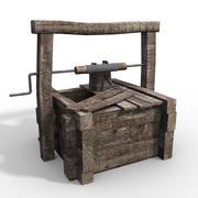Drewniana Studnia Średniowieczna 3d model