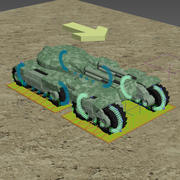 Tank avec animation RIGGED 3d model
