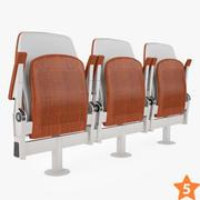 講堂の椅子 3d model