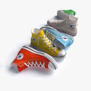 Converse All Star Cinque colori 3d model