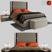 Plaza bed by Turri 3d model