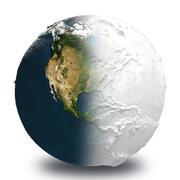 彫刻された地球 3d model