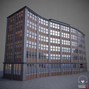 곡선 건물 01 3d model