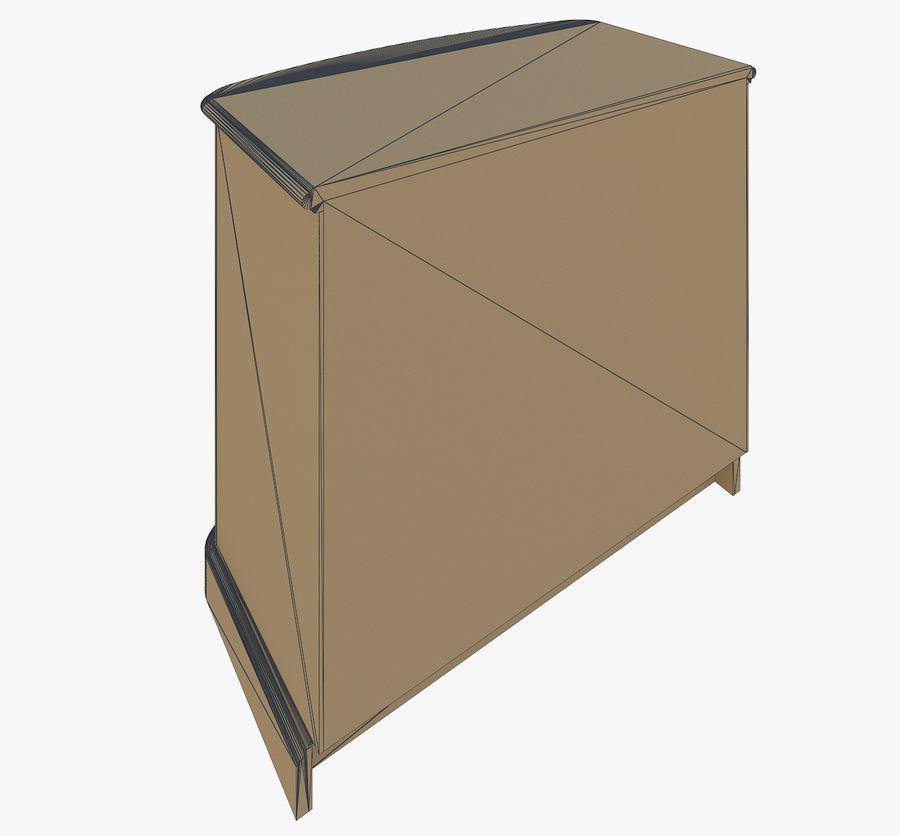 Yatak odası mobilyaları royalty-free 3d model - Preview no. 7