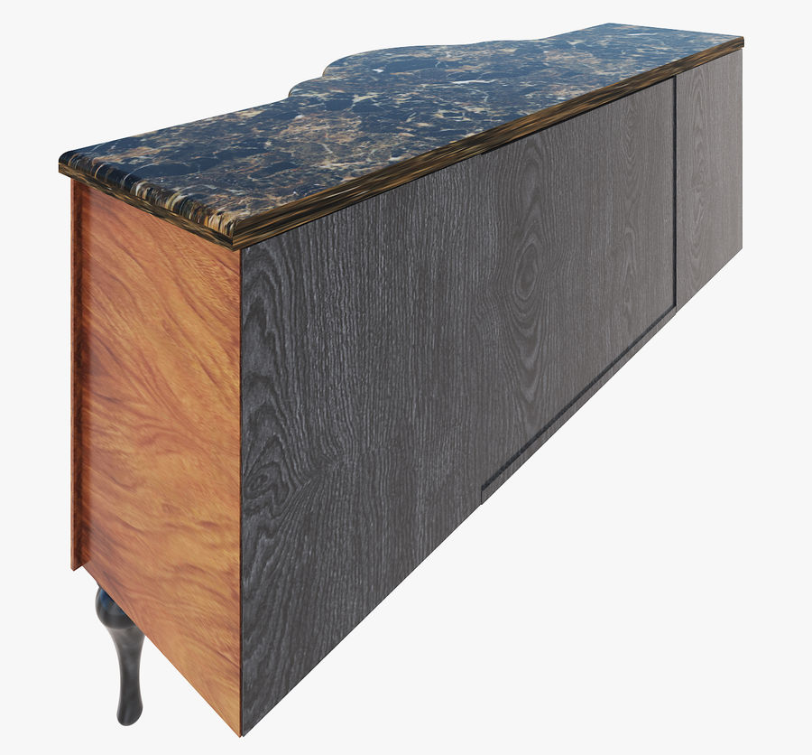 Chest of drawers for bathroom royalty-free 3d model - Preview no. 4