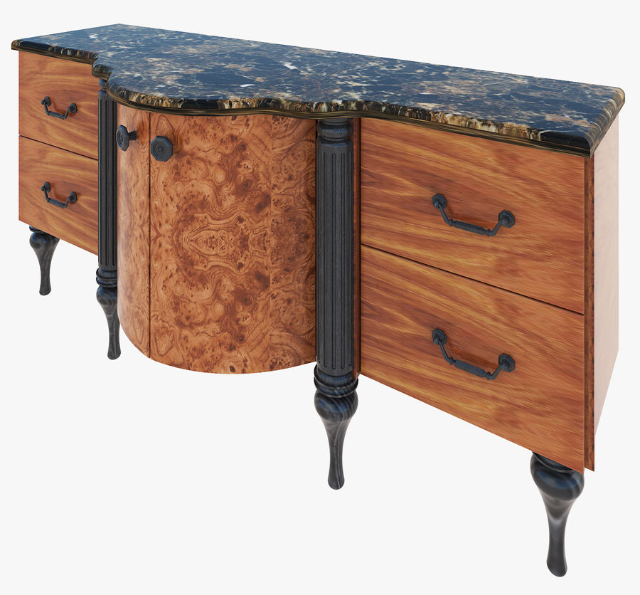 Chest of drawers for bathroom royalty-free 3d model - Preview no. 3