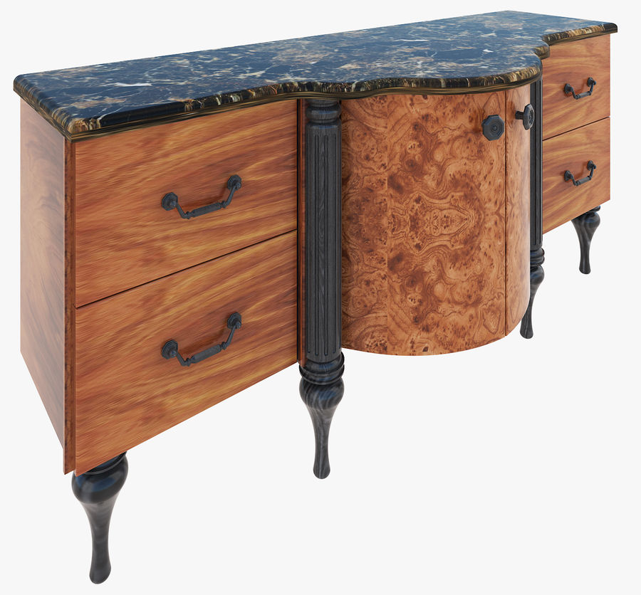 Chest of drawers for bathroom royalty-free 3d model - Preview no. 1
