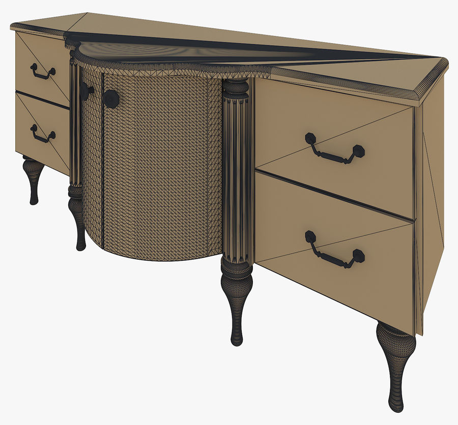 Chest of drawers for bathroom royalty-free 3d model - Preview no. 6