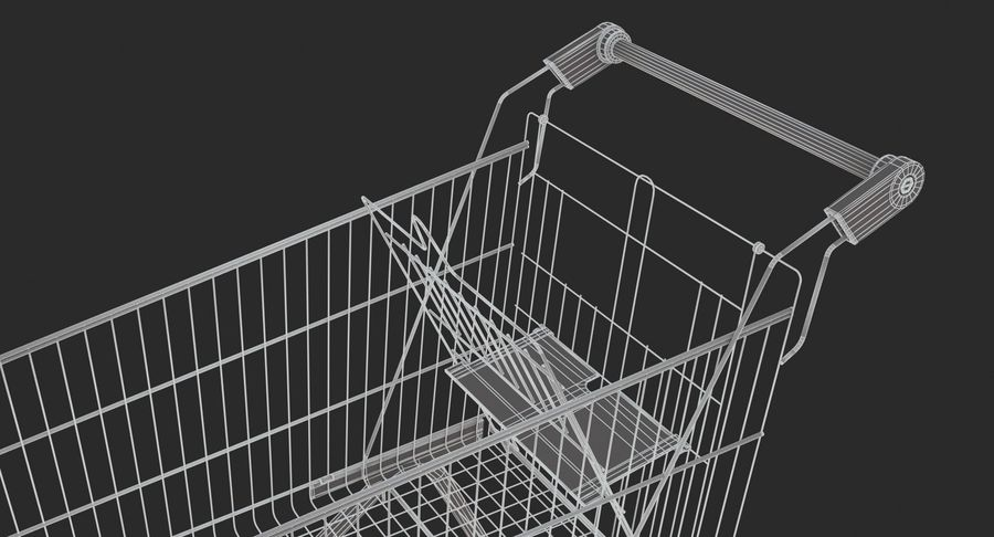 Supermarket - Shopping Cart royalty-free 3d model - Preview no. 11