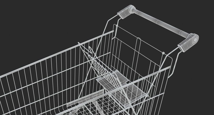 Supermarket - Shopping Cart royalty-free 3d model - Preview no. 12